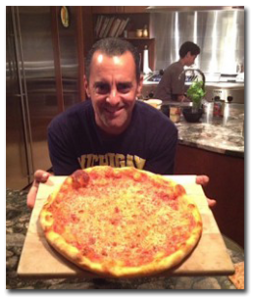Michael Jeffreys with Pizza